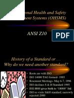 ANSI Z10 Overview