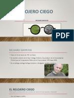 El Relojero Ciego, Richard Dawkins