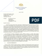 6.22.2018 - Letter to President Trump Requesting Disaster Aid for Western PA