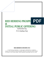 Red Herring Prospectus & Initial Public Offering