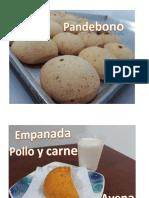 Presentación de pan debono y empanadas