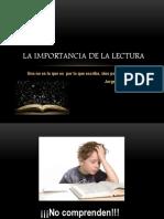 La Importancia de La Lectura