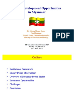 Power Development Oppourtunites in Myanmar