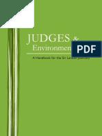 Judges Environmental Law a Handbook for the Sri Lankan Judiciary 2009