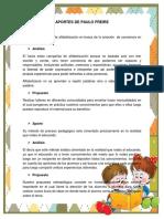 Aportes de Paulo Freire