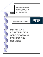 Road, Sewer and Watermain Design and Construction Specs