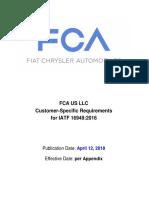 2.FCA US LLC Customer-Specific Requirements IATF 16949 - Apr 12, 2018