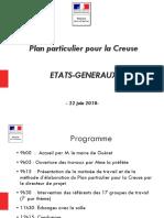 Les 100 projets du Plan Particulier de la Creuse