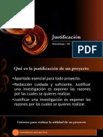 5. Justificación
