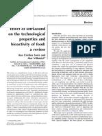 Review Ultrasonido en Alimentos