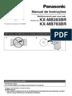 KX-MB783BR. Manual de Instruções. Multifuncional Laser Com Rede. Modelo No. KX-MB283BR