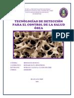 Tecnologías de Detección Para El Control de La Salud Ósea