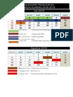 1.1. Kalender Pendidikan 2018-2019 Sd, Smp, Sma.ma, Smk