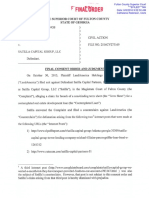 Landamerica Holdings & Investment v. Satilla Capital Group - Final Order and Judgment