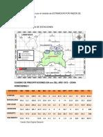 Calculo de Precipitacion Por El Metodo de Estimacion Por Razon de Valores Normales