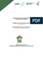 Formato Informe Final Grupos Fase I Robótica 2016 IE SANTA TERESITA La Victoria