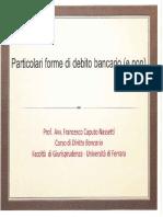 3 Bis - Particolari Forme Di Debito Bancario -e Non