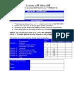 Examen Nuevo ISO 9001 2015