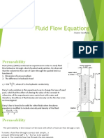 Fluid Flow Equations