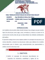 MODELOS ESTRUCTURALES DE ESTRUCTURAS REALES