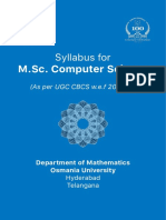 Msc [Cs] Syllabus_2016-2017 [II Years] New