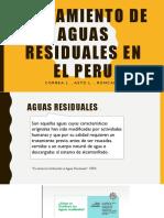 Tratamiento de Aguas Residuales en El Peru 1