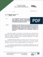 FDA Memorandum Circular No. 2015-003