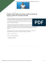 """Projeto """"Informática Em Libras"""" Auxilia Inclusão de Alunos Surdos Em Campina Grande - Surdos on-Line"""