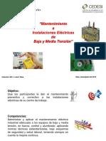 Curso Mantenimiento a Instalaciones Eléctricas de Baja y Media Tensión