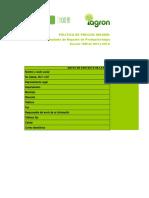 Formulario Reporte Productor Pecuario