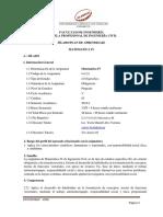 011252 - Matematica IV