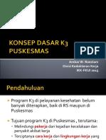 CONTOH PENERAPAN KONSEP K3 DI PUSKESMAS 2015.ppt