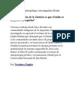 -La Concepción de La Justicia Es Que El Indio Es Un Pobre de Espíritu-_Verónica Engler