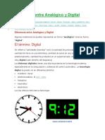 Diferencia Entre Analógico y Digital