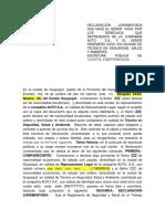 DECLARACIÓN JURAMENTADA  AUTOCHECO