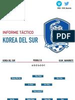 Informe Táctico |Korea del Sur, Rival de México en Rusia 2018