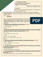 Eléments de Correction Examen de Macroéconomie (S2) Mai 2017