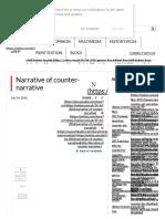 Narrative of Counter-narrative