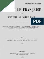 Bourassa Henri - La langue française et l'avenir de notre race.pdf
