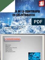 UCV EFICACIA DE LA CRIOTERAPIA EN LOS FUTBOLISTAS.pptx