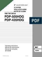 Pioneer Pdp-435 Pdp-505 Manual