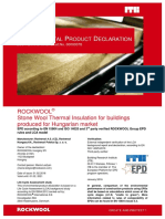 ROCKWOOL - Stone Wool Thermal Insulation for Buildings Produced for Hungarian Market