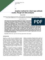 BB_An Alternative Evaluation Method for Likert Type Attitude Scales_Rough Set Data Analysis