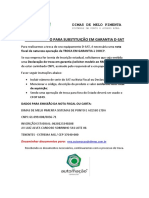Instruções Para Emissão NF Troca