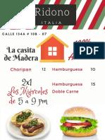 Red Green Stripes Pizza Italian Restaurant Menu (3)