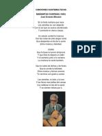 Canciones y Poemas Guatemaltecos