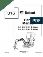 Bobcat 316 Excavator Parts Catalogue Manual SN 522911001 & Above.pdf
