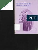 Curt Paul Janz. Friedrich Nietzsche. Una biografia. vol I. Alianza