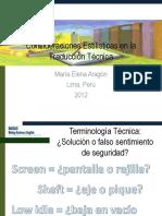 Consideraciones Estilísticas en la Traducción Técnica - Noviembre 2012 - ProZ.pptx