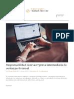 Responsabilidad de Una Empresa Intermediaria de Ventas Por Internet
